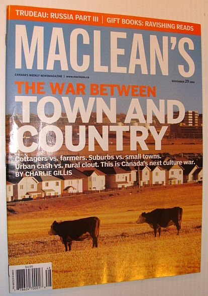 Image for Maclean's Magazine, 29 November 2004