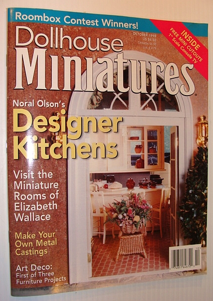 Image for Dollhouse Miniatures Magazine, October 1998 *Noral Olson's Designer Kitchens*