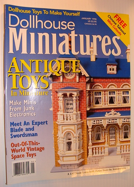 Image for Dollhouse Miniatures, January 1998 - Antique Toys