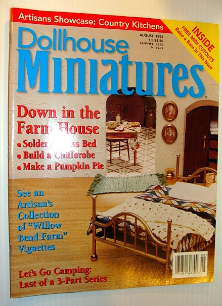 Image for Dollhouse Miniatures, August 1998 - Down in the Farm House