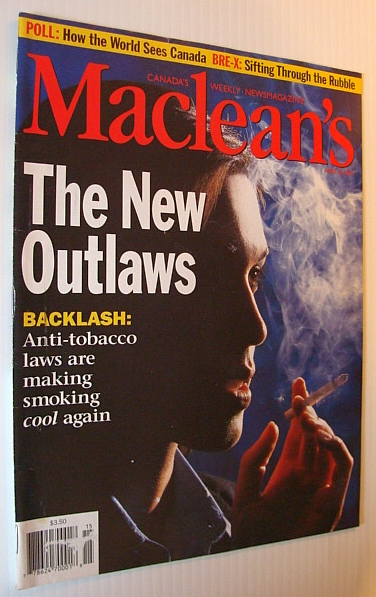Image for Maclean's Magazine, 14 April 1997 - Anti-Smoking Laws Are Making Smoking Cool Again!