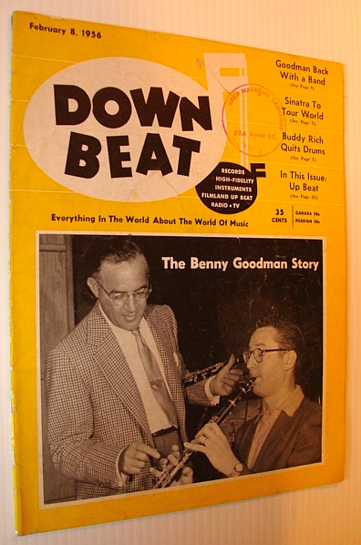 Image for Down Beat Magazine, February 8, 1956 - The Benny Goodman Story