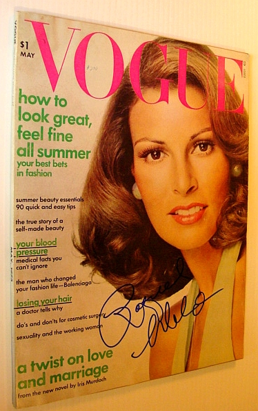 Image for Vogue Magazine (US), May 1973 *SIGNED BY COVER MODEL RAQUEL WELCH*