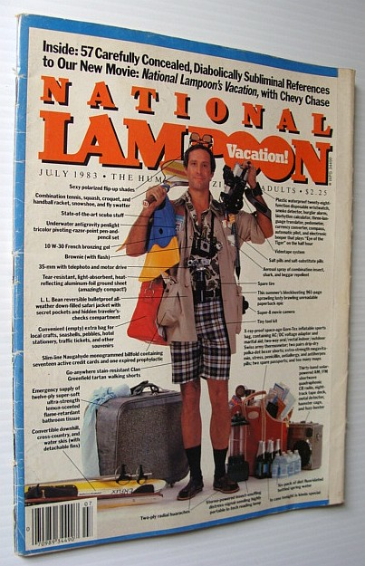 Image for National Lampoon Magazine, July 1983 - Vacation Issue - Chevy Chase Cover!