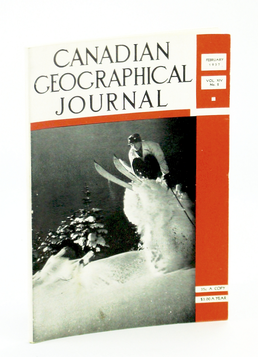 Image for Canadian Geographical Journal, February [Feb.] 1937, Vol. XIV, No. 2 - Trans-Canada Airway / Ski-ing [Skiing] In Canada