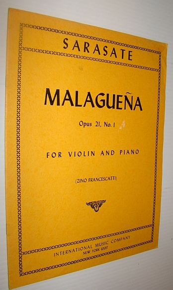 Image for Malaguena Opus 21, No. 1 for Violin and Piano - Sheet Music for Piano and Violin