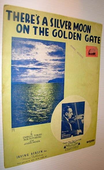 Image for There's A Silver Moon on the Golden Gate - Sheet Music for Piano and Voice with Guitar Chords