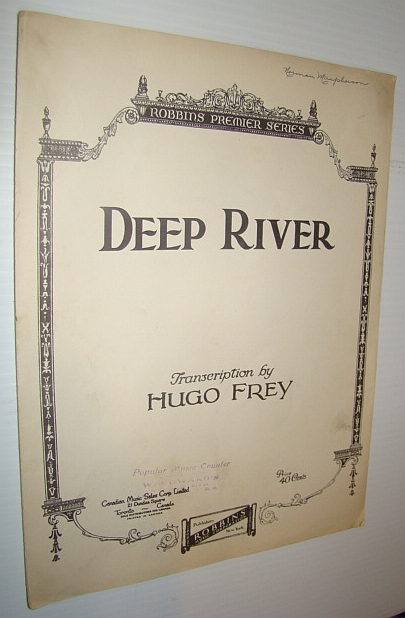 Image for Deep River - Sheet Music for Voice and Piano