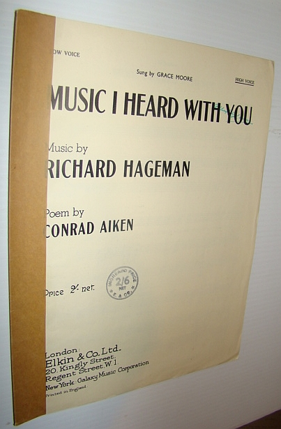 Image for Music I Heard With You - Sheet Music for Piano and High Voice