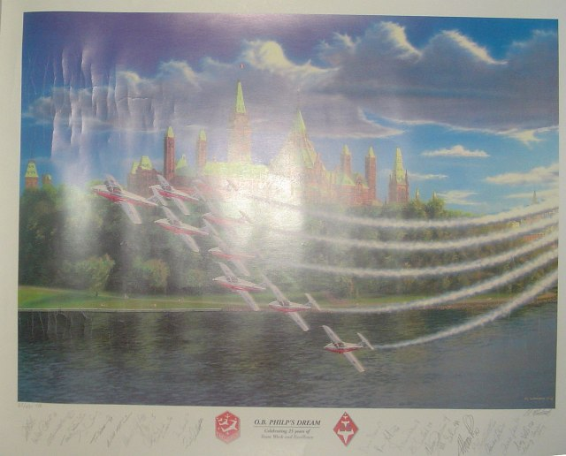 "Image for O.B. Philp's Dream: 26"" x 20"" Canadian Forces Snowbirds Limited Edition Lithograph"