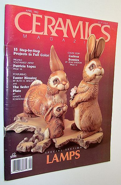 Image for Ceramics Magazine, April 1992 - Special Lamps Issue