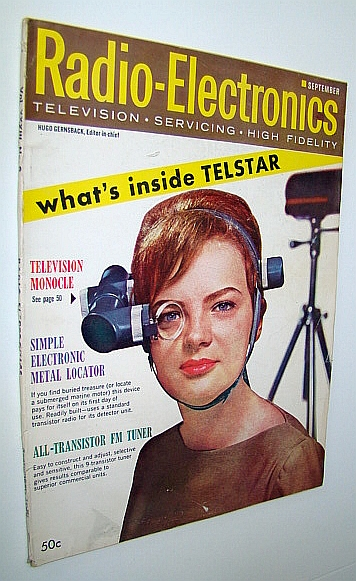 Image for Radio-Electronics Magazine - Television, Servicing, High Fideligh: September  1962, Vol XXXIII, No. 9 - TV Monocle Cover Photo