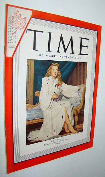 Image for Time Magazine, August 23, 1948 - Betty Grable Cover Illustration