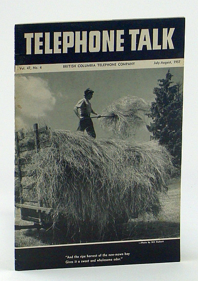 Image for Telephone Talk, July - August 1957: Magazine of the British Columbia Telephone Company (B.C. Tel.) -  Dog Mountain Tramway Completed