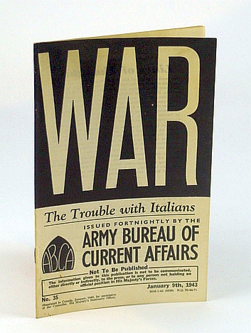 Image for WAR: The Trouble with Italians, No. 35, January (Jan) 9th 1943 - The Trouble with Italians