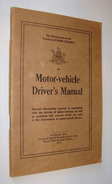 Image for British Columbia Motor-Vehicle Driver's Manual