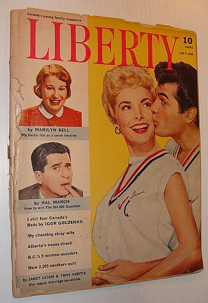 Image for Liberty - Canada's Young Family Magazine, July 1956 *Cover Photos of Janet Leigh and Tony Curtis*