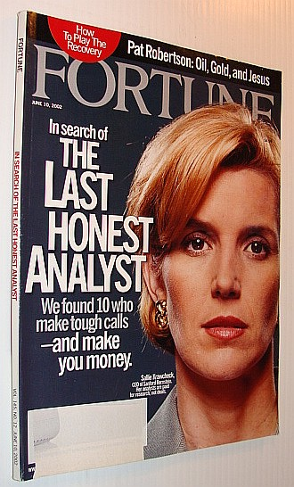 Image for Fortune Magazine, 10 June, 2002 *In Search of the Last Honest Analyst*
