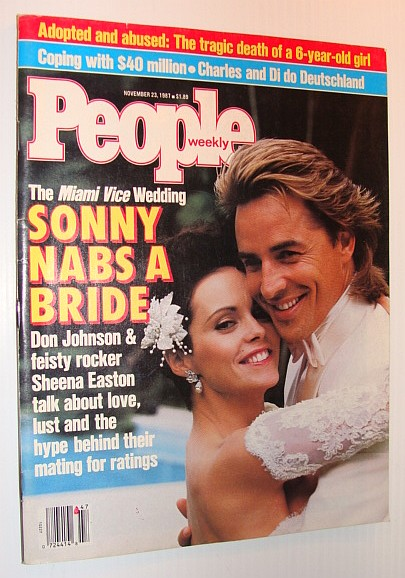 Image for People Magazine, 23 November 1987 - Don Johnson and Sheena Easton Cover - the Miami Vice Wedding