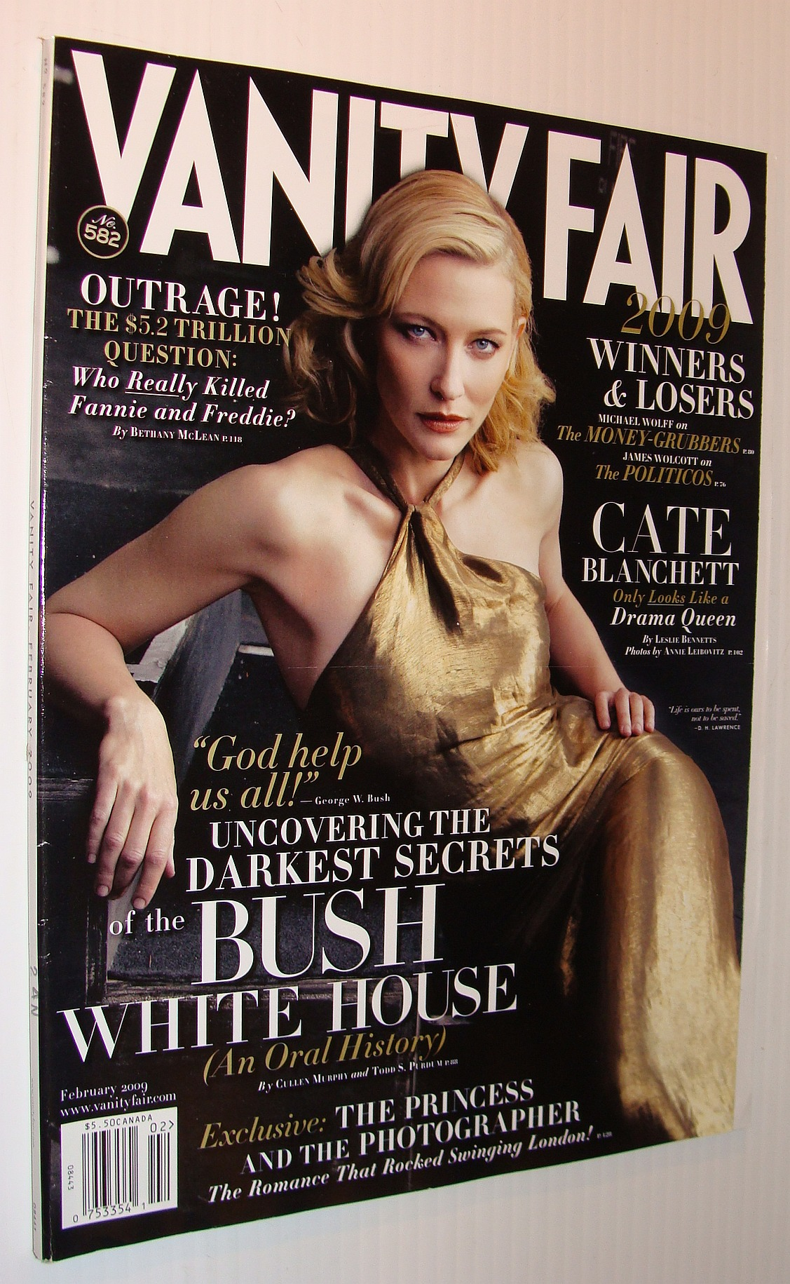 Image for Vanity Fair Magazine, February 2009 *Cate Blanchett Cover*