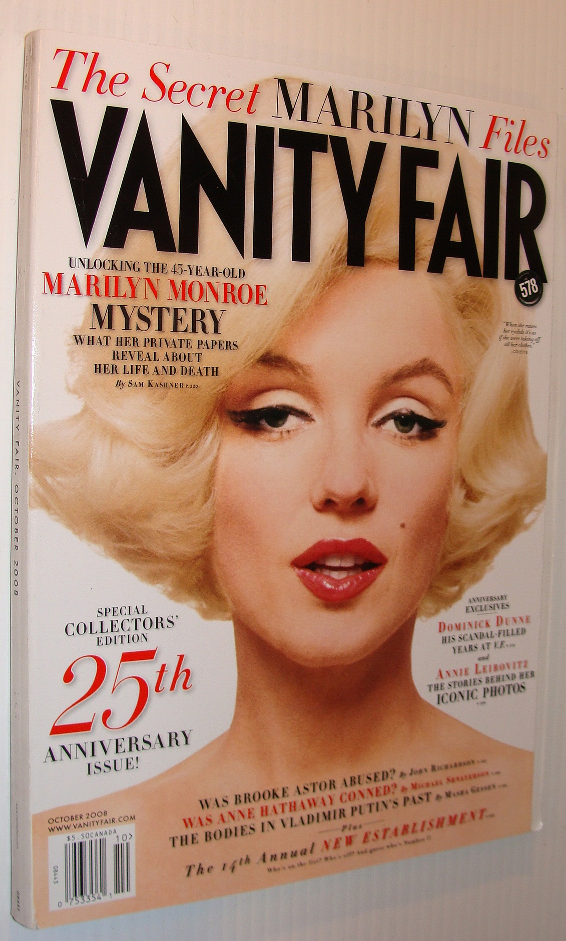Image for Vanity Fair, October 2008 *Marilyn Monroe Cover*