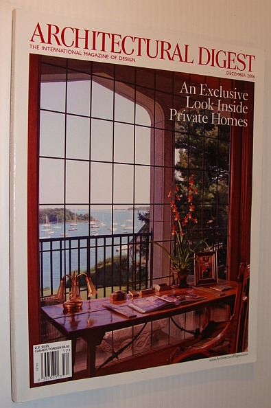 Image for Architectural Digest Magazine, December 2006 *An Exclusive Look Inside Private Homes*