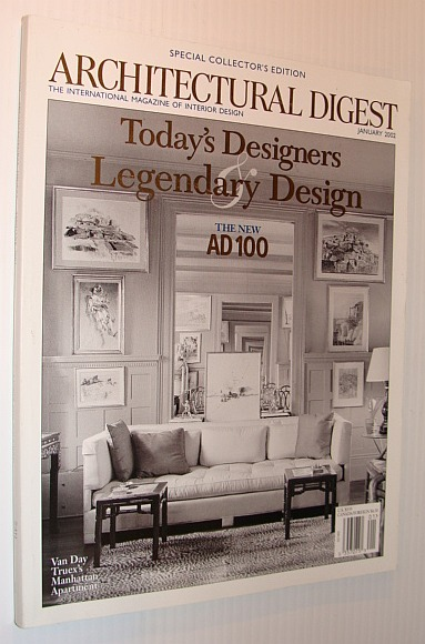 Image for Architectural Digest Magazine, January 2002