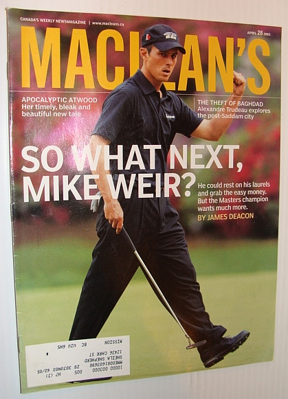 Image for Maclean's Magazine, 28 April 2003 *Mike Weir Cover*