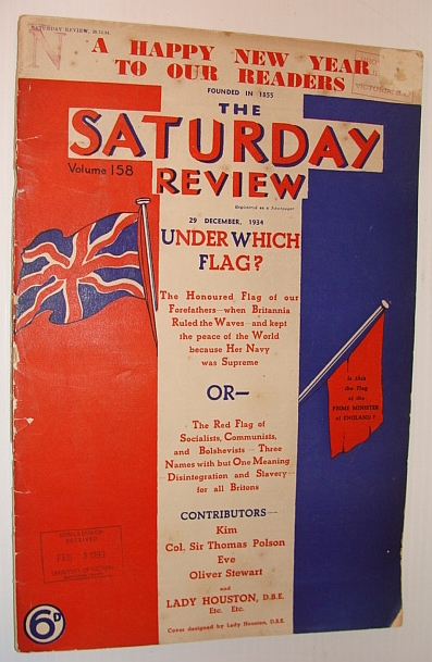 "Image for The Saturday Review, 29 December, 1934 - ""The Only Paper That Dares To Tell You All The Truth"""