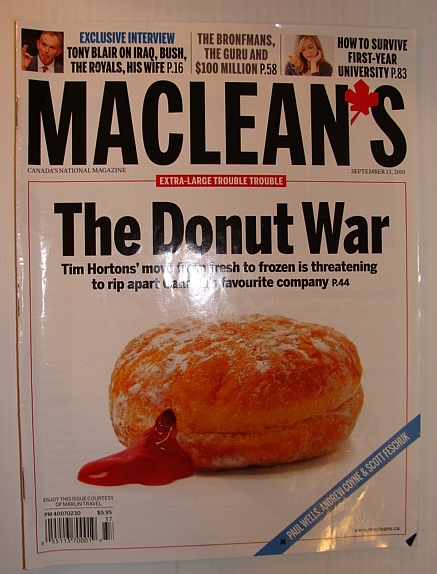 Image for Maclean's Magazine, 13 September 2010 - Tim Hortons' Move from Fresh to Frozen