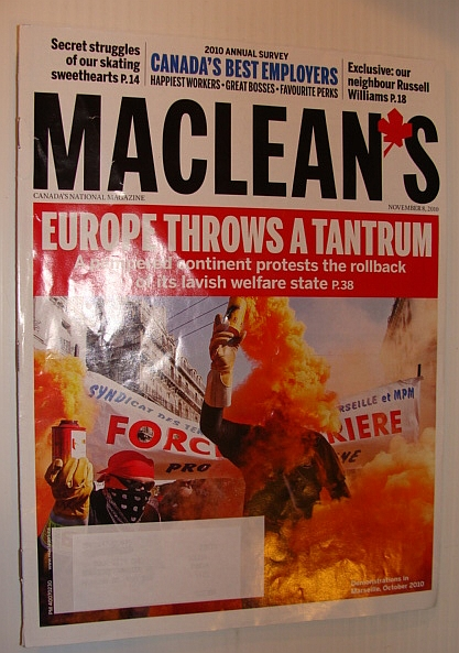 Image for Maclean's Magazine, 8 November 2010 - Europe Protests Welfare State Cutbacks