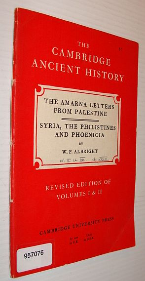 Image for The Amarna Letters from Palestine / Syria, The Phillistines, and Phoenicia: Volume II, Chapter XX Chapter XXXIII
