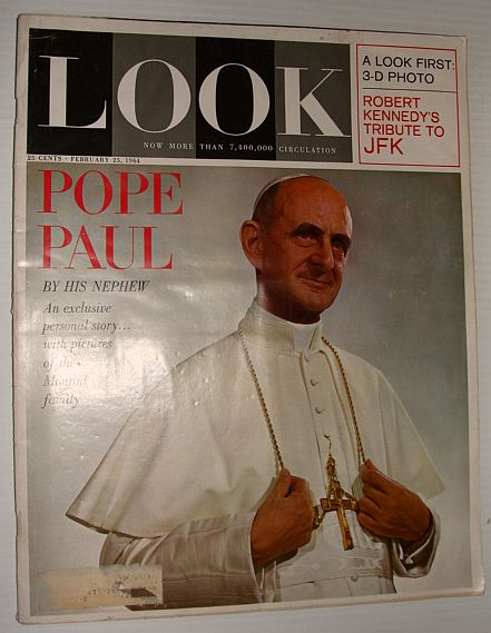 Image for Look Magazine, February 25, 1964 *A Nephew's Portrait of Pope Paul VI*