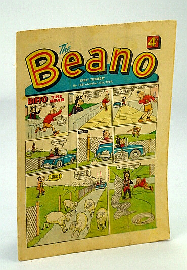 Image for The Beano, No. 1421 - October (Oct.) 11, 1969 (Original British Comic)