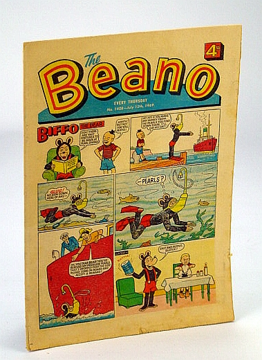 Image for The Beano, No. 1408 - July 12, 1969 (Original British Comic)