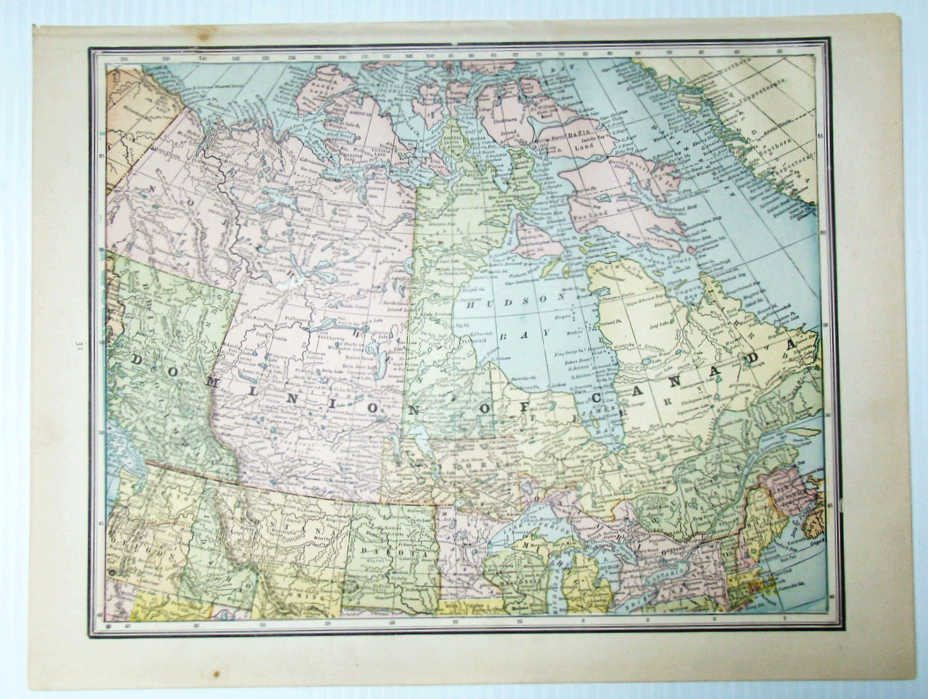 Image for 1889 Colour Map of the Dominion of Canada