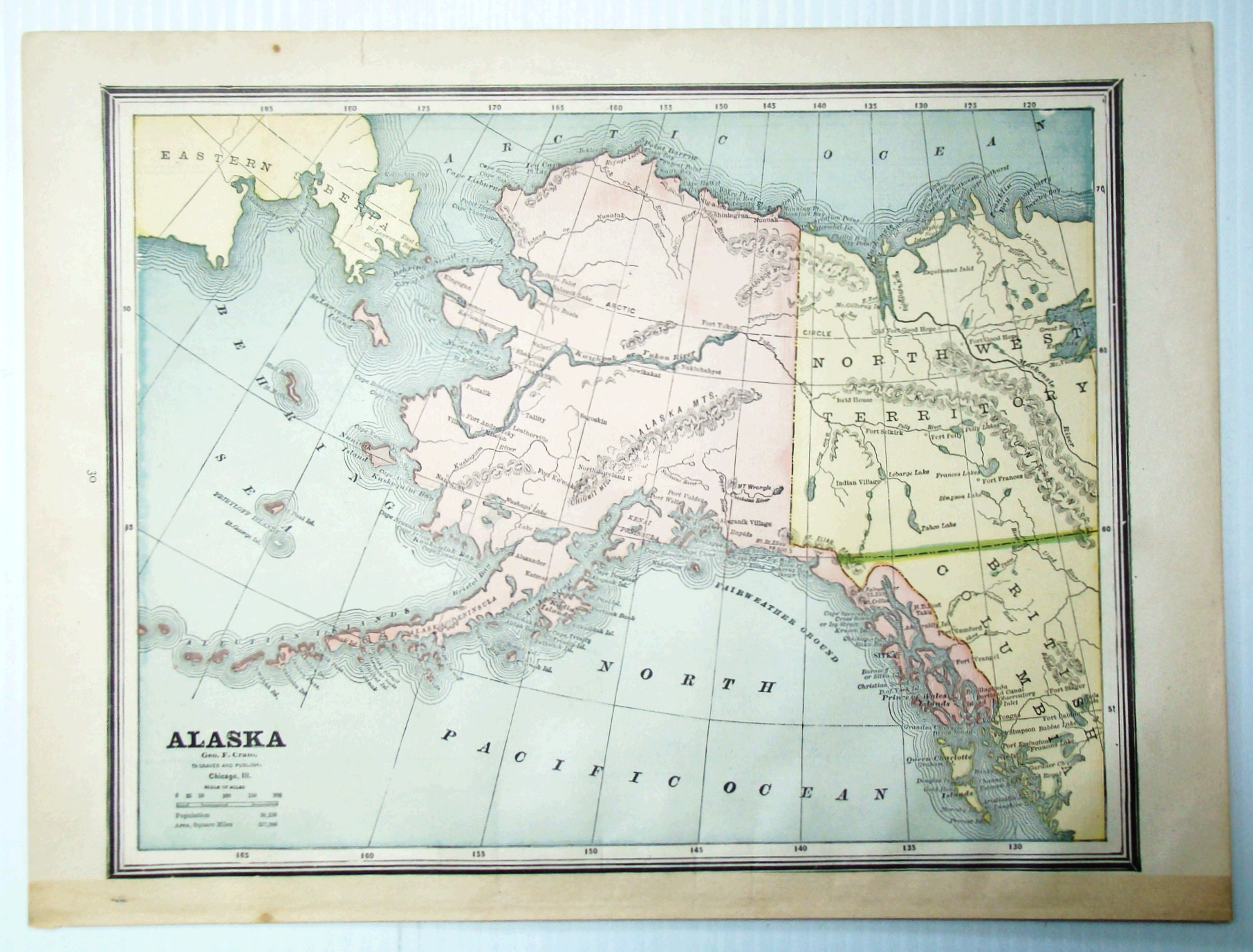 Image for 1889 Color Map of the State of Alaska