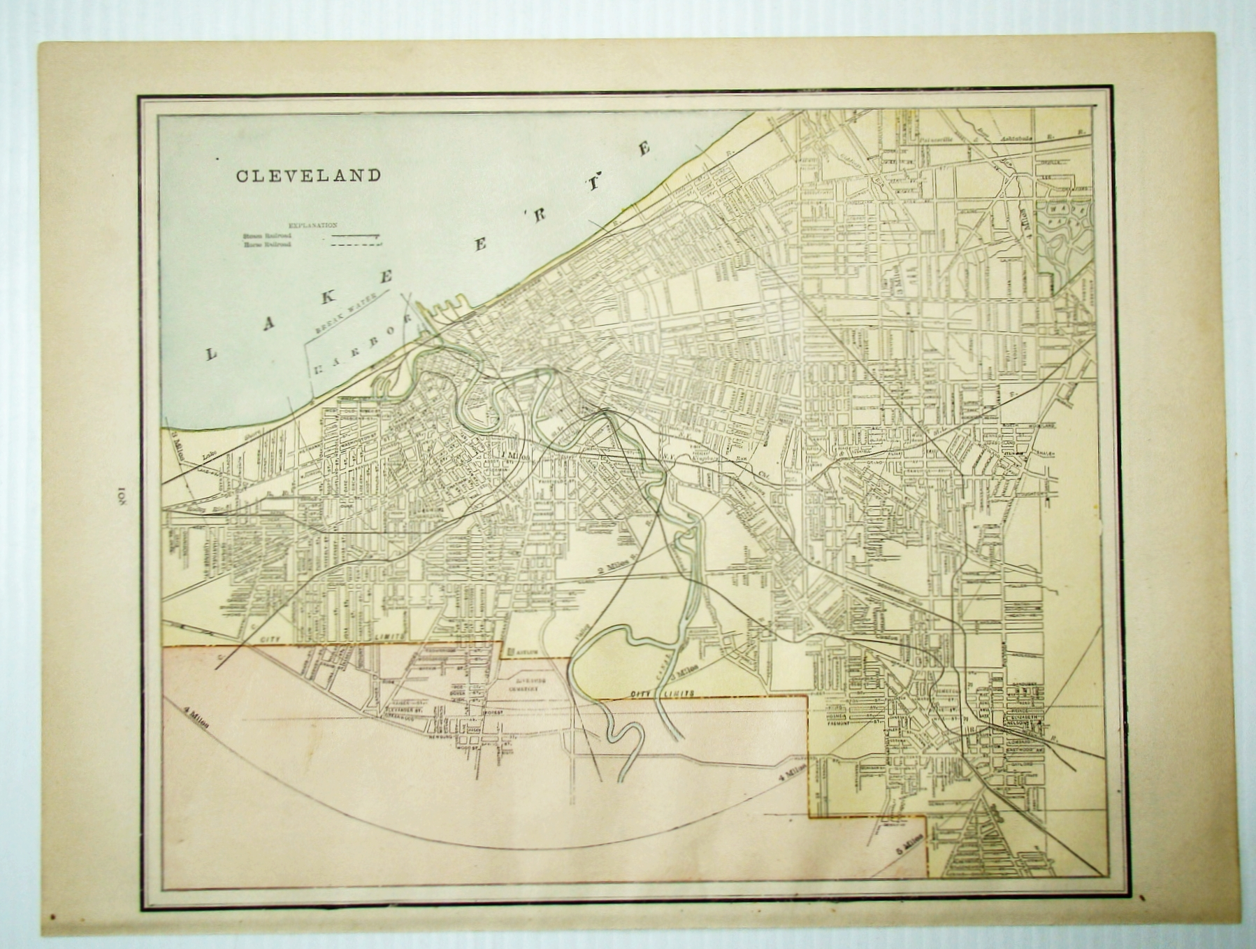 Image for 1889 Color City Map of Cleveland, Ohio (OH)