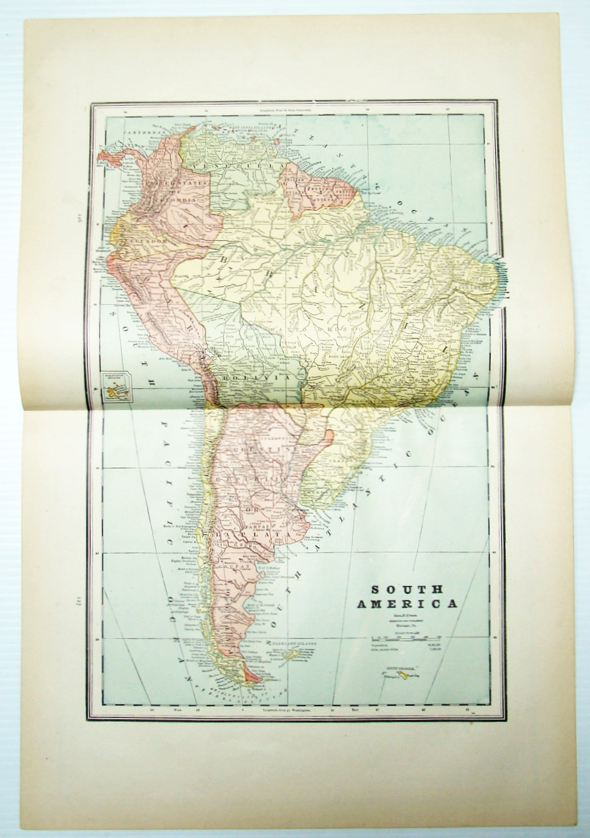 Image for 1889 Color Map of Central America