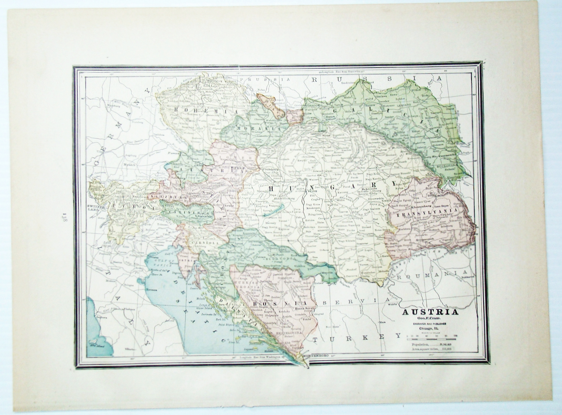 Image for 1889 Color Map of Austria