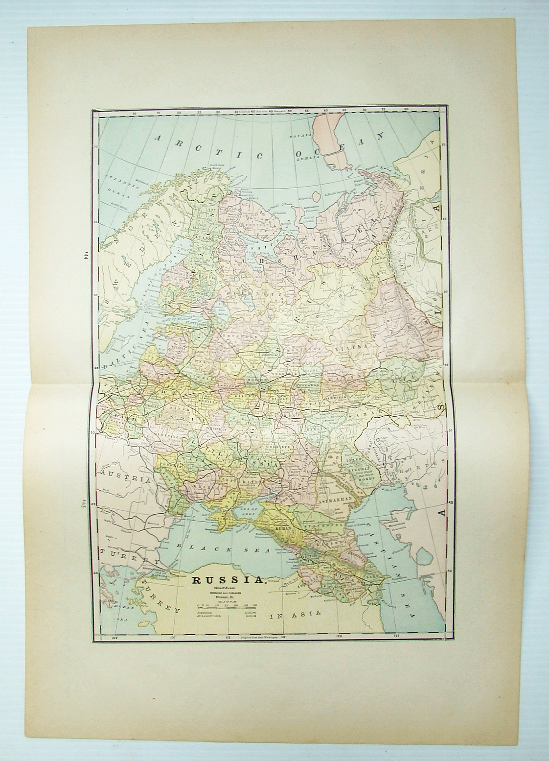 Image for 1889 Color Map of The Turkish Empire in Europe and Asia, Greece, Roumania, Etc.