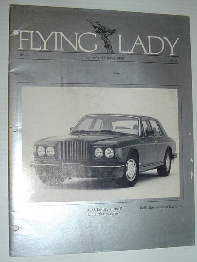 Image for Flying Lady - The Periodical of the Rolls-Royce Owner's Club, Inc., September/October 1988