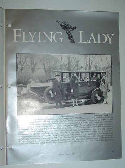 Image for Flying Lady - The Periodical of the Rolls-Royce Owner's Club, Inc., March/April 1991