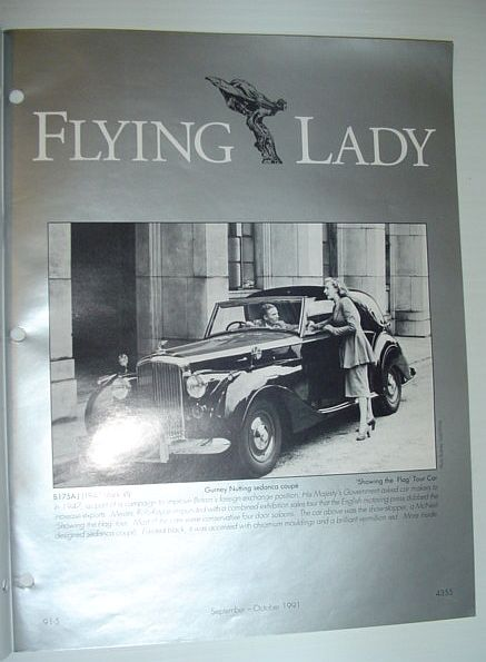 Image for Flying Lady - The Periodical of the Rolls-Royce Owner's Club, Inc., September/October 1991