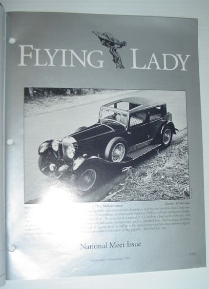 Image for Flying Lady - The Periodical of the Rolls-Royce Owner's Club, Inc., November/December 1991