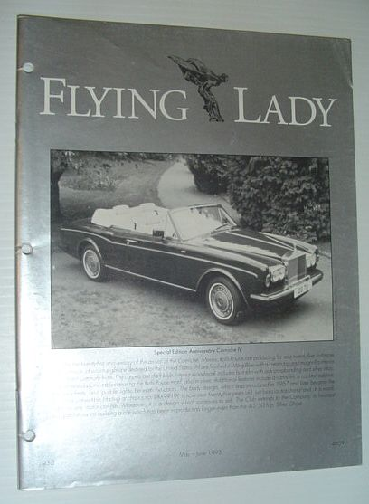 Image for Flying Lady - The Periodical of the Rolls-Royce Owner's Club, Inc., May/June 1993