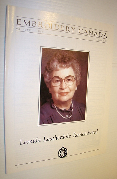 Image for Embroidery Canada Magazine, Summer 1991 - Leonida Leatherdale Remembered