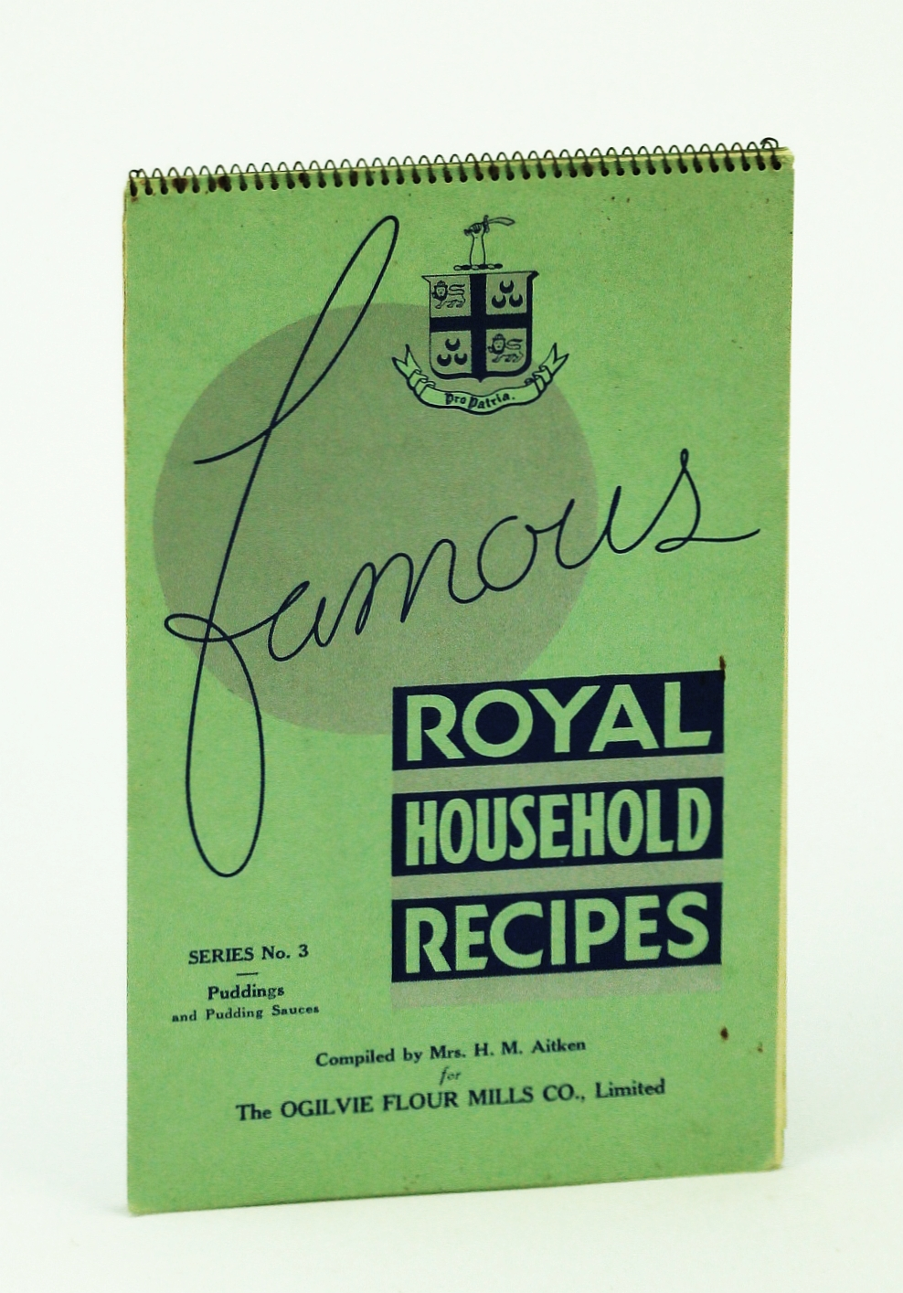 Image for Famous Royal Household Recipes - Series No. 3 (Three): Puddings and Pudding Sauces