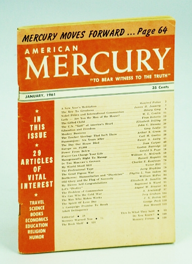 "Image for American Mercury Magazine, ""To Bear Witness To The Truth"", January (Jan.) 1961, Volume XCII No. 444 - Nobel Prizes and International Communism / The U.N. ""Gatt"" at America's Heart"