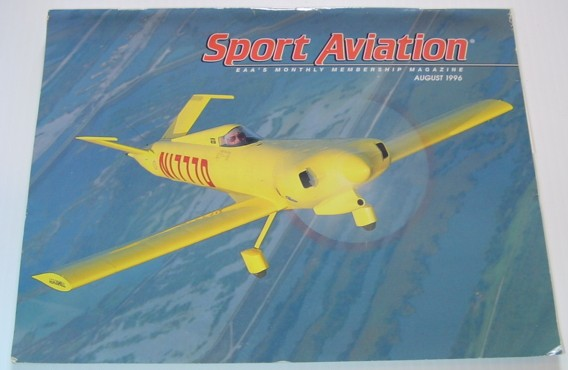 Image for Sport Aviation Magazine - August 1996